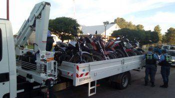 secuestran 21 motos que andaban flojas de papeles en el chanar