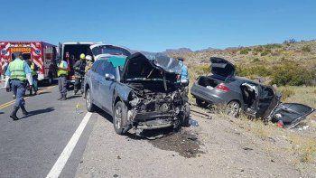 cinco personas heridas en un choque frontal sobre la ruta 237