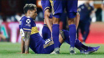 El delantero de Boca se lesionó frente a Independiente.