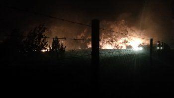bomberos y defensa civil controlaron voraz incendio