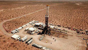 Vista aérea de Bandurria Sur,el área de shale oil de Vaca Muerta donde Shell es socia con el 30%.