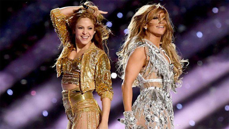 Shakira y Jennifer Lopez brillaron en el Super Bowl