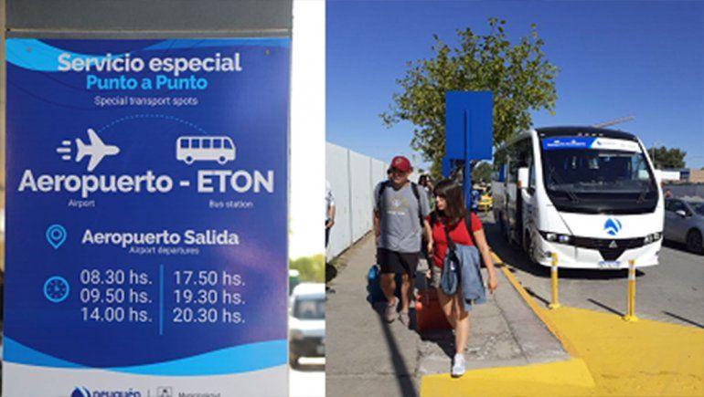 La línea que conecta ETON con el aeropuerto tiene seis frecuencias.