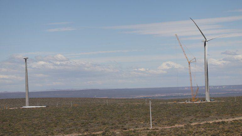 El Parque Eólico Vientos Neuquinos está ubicado en un predio cercano a Bajada Colorada