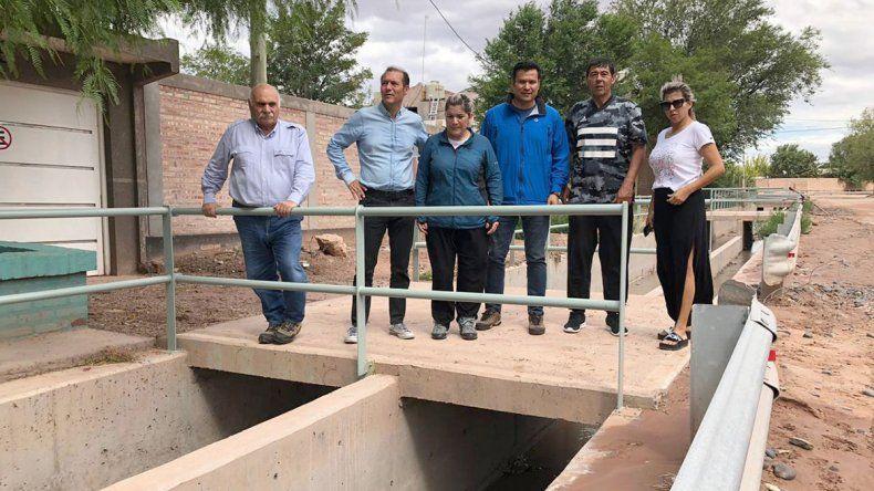 Rincón: Gutiérrez supervisó las tareas tras la lluvia