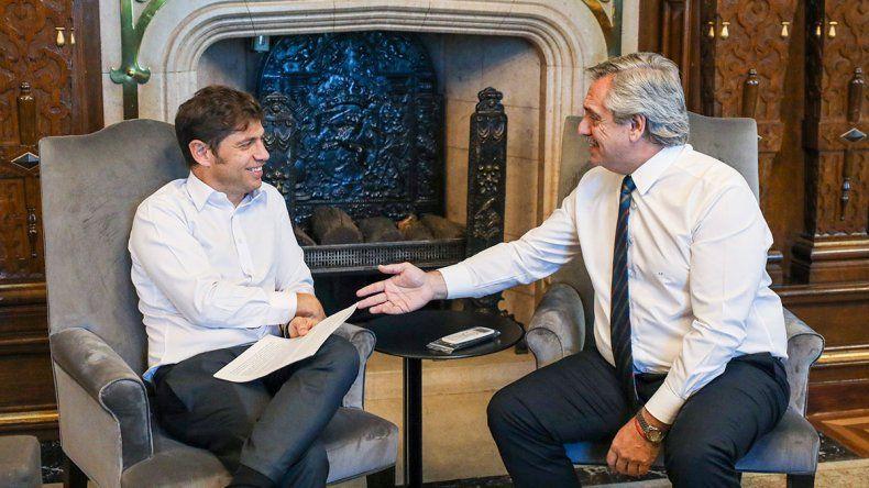 Alberto Fernández le pidió a Axel Kicillof ponerle fin a las internas