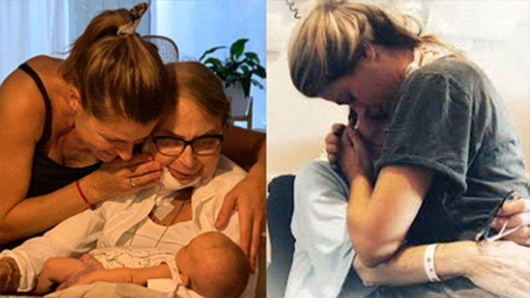 El dolor de Eugenia Tobal por la muerte de su madre