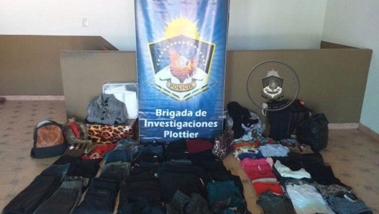 Recuperaron ropa que fue robada en un comercio