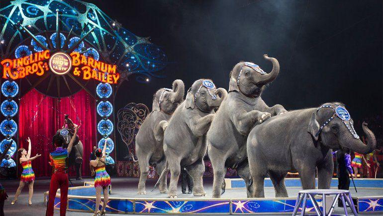 La mayoría de los circos eliminó la utilización de elefantes, como Topsy, en sus shows.