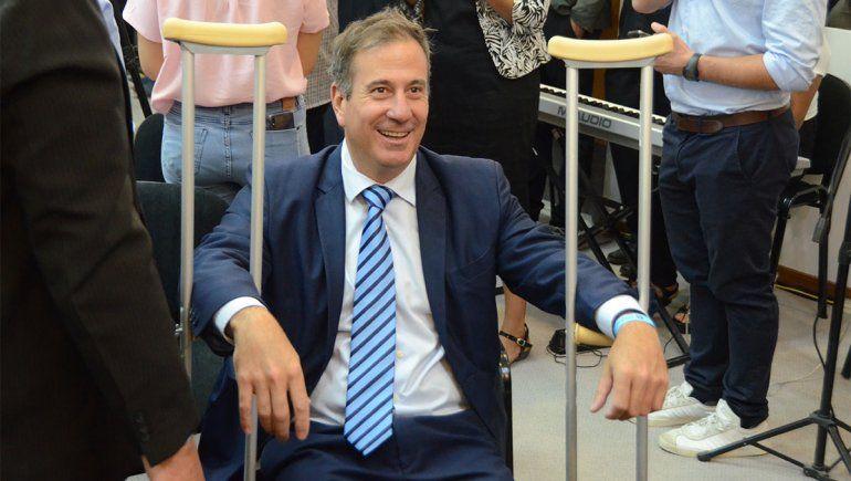 El ministro Ricardo Corradi Diez no quiso perderse el discurso de Gaido en el Deliberante.