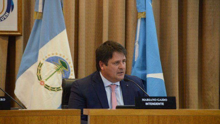 Gaido durante su discurso en el Concejo Deliberante.