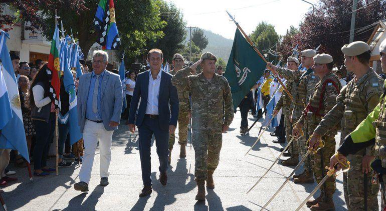 Gutiérrez encabezó el aniversario de Junín de los Andes