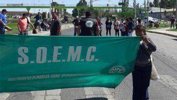 centenario: municipales bloquearon por horas la ruta 7