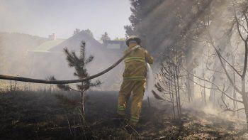 san martin: un tremendo incendio en el bosque casi alcanza una vivienda