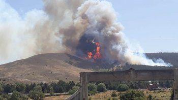 un incendio descontrolado afecta un bosque de corfone