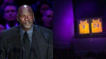 Las lágrimas de Jordan por Kobe emocionaron a todos.