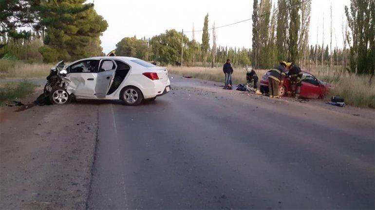 Vista Alegre Norte: un muerto en un choque frontal sobre la Ruta 7