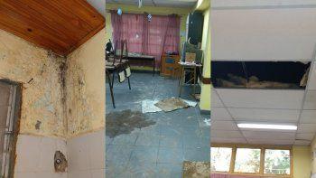 Algunos problemas edilicios en la Escuela 271 de Octavio Pico, donde decidieron no iniciar las clases.