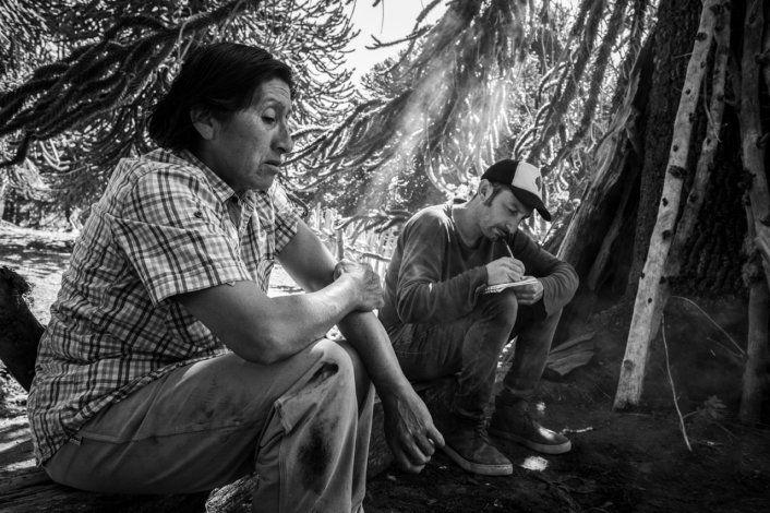 Susana Puel hablando sobre la cocina mapuche