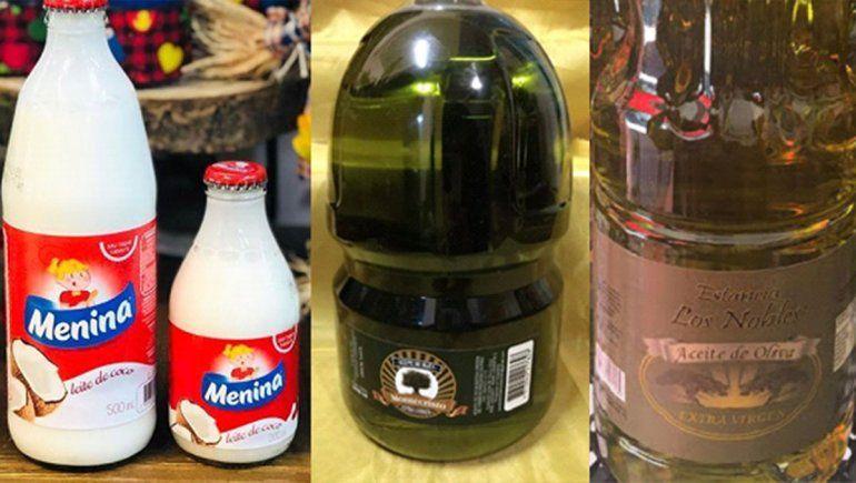 La ANMAT prohibió dos aceites de oliva y el producto leche de coco Menina.