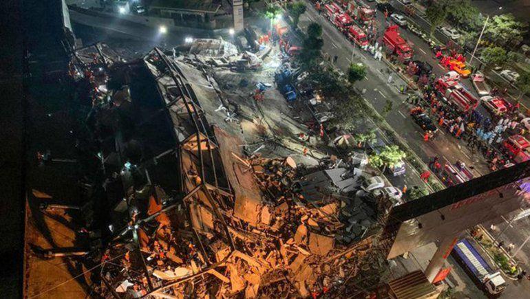 China: estaban en cuarentena y se derrumbó un edificio