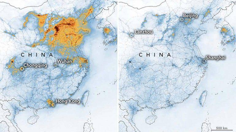 Efecto coronavirus: la contaminación del aire se redujo en Europa y China