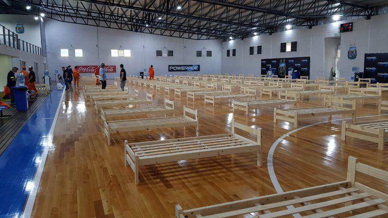 AFA prepara un hospital de campaña en el microestadio de futsal