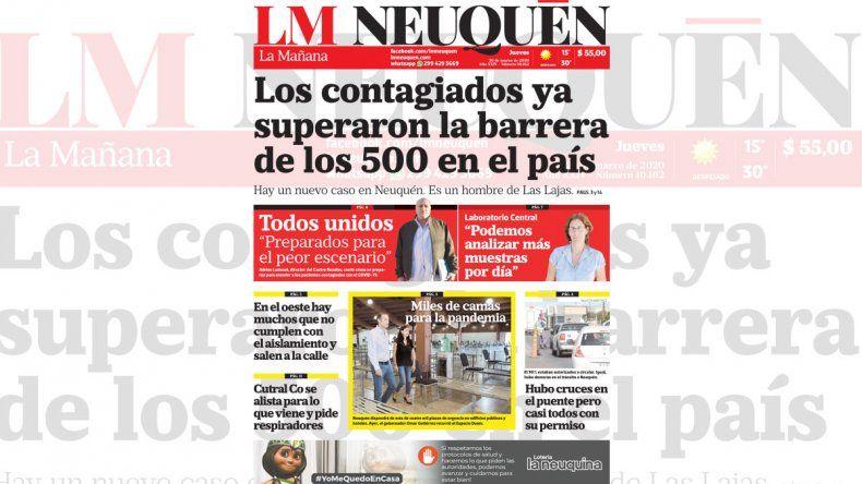 La edición impresa de LM Neuquén de hoy