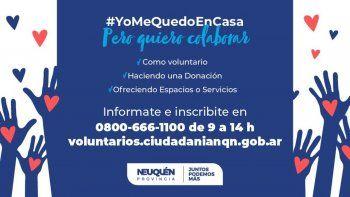 neuquen tiene su programa de voluntarios para enfrentar el coronavirus