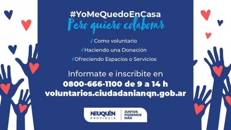 Neuquén tiene su programa de voluntarios para enfrentar el coronavirus
