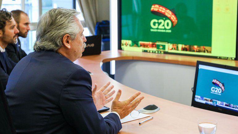 Alberto Fernández pidió ante el G20 un fondo de emergencia