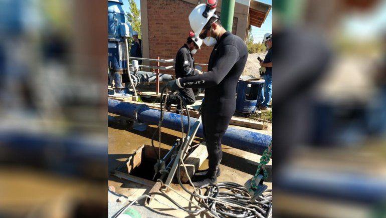 Volvió el agua potable en Valentina Sur.