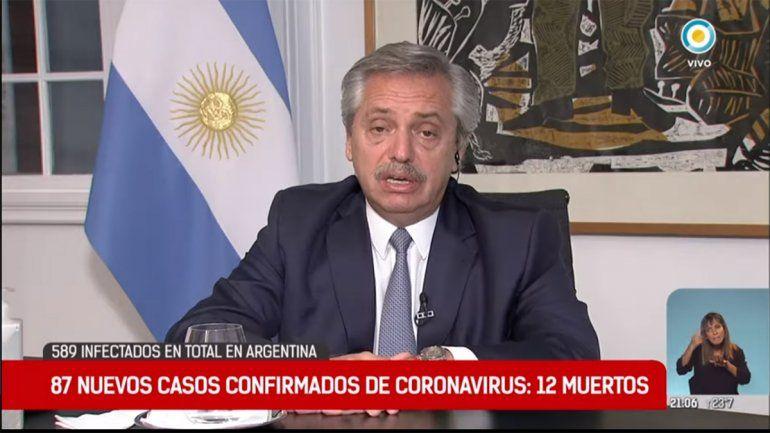 Alberto Fernández: Cada vez que me entero de otro infectado sufro