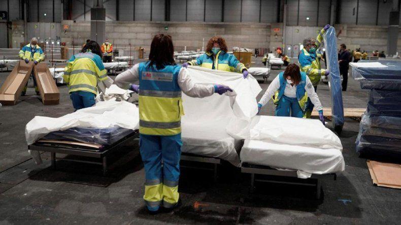 España registró 637 muertes en un día, la cifra más baja en las últimas dos semanas