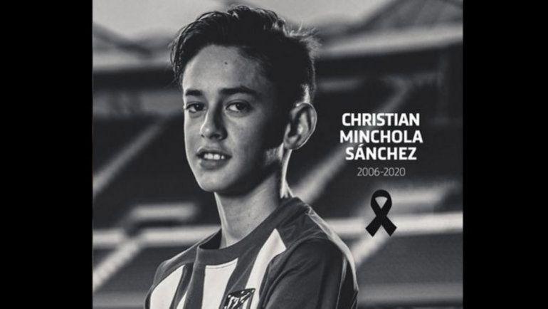 Simeone llora la muerte de joven promesa del Atlético Madrid