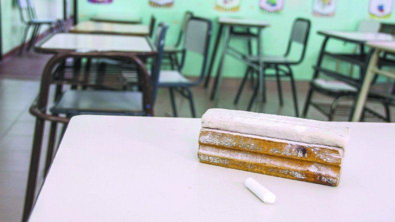 Las aulas seguirán vacías por tiempo indeterminado