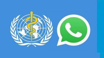 la oms se unio a whatsapp y facebook para informar sobre el coronavirus