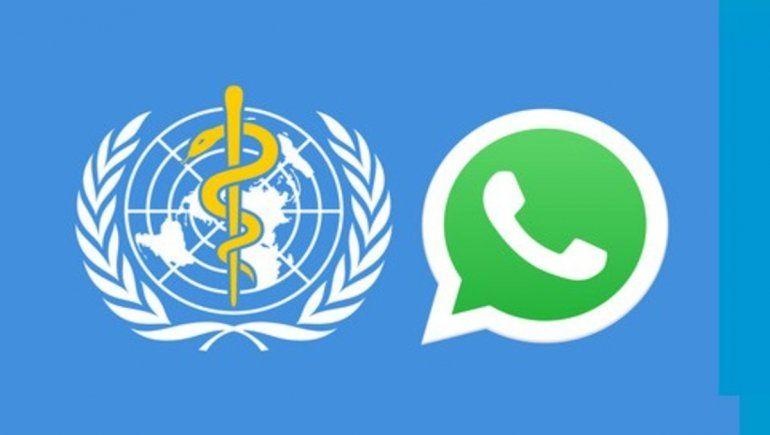 La OMS se unió a WhatsApp y Facebook para informar sobre el coronavirus