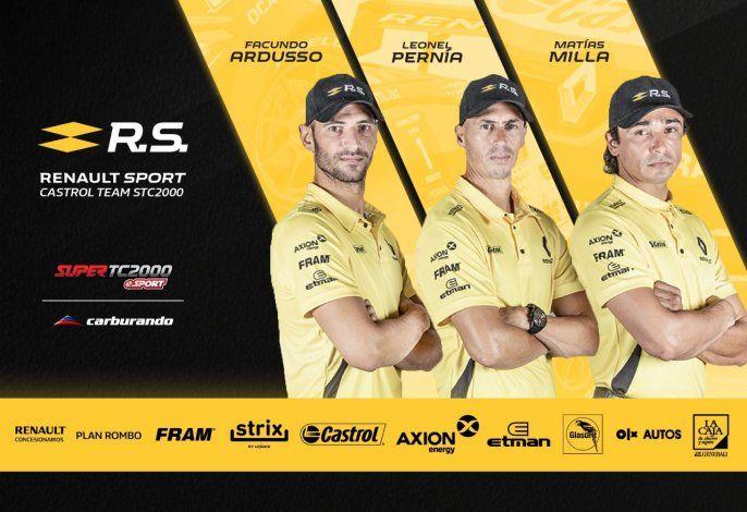 Renault Sport optó por tres de sus pilotos oficiales para lo que será el Campeonato de las Estrellas de Súper TC2000 eSports.