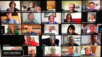 senadores peronistas charlaron virtualmente