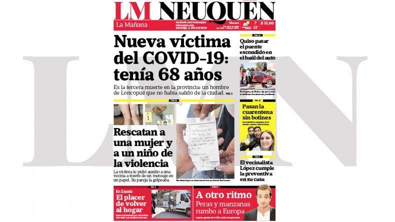 Todo el contenido de la edición impresa de hoy de LM Neuquén