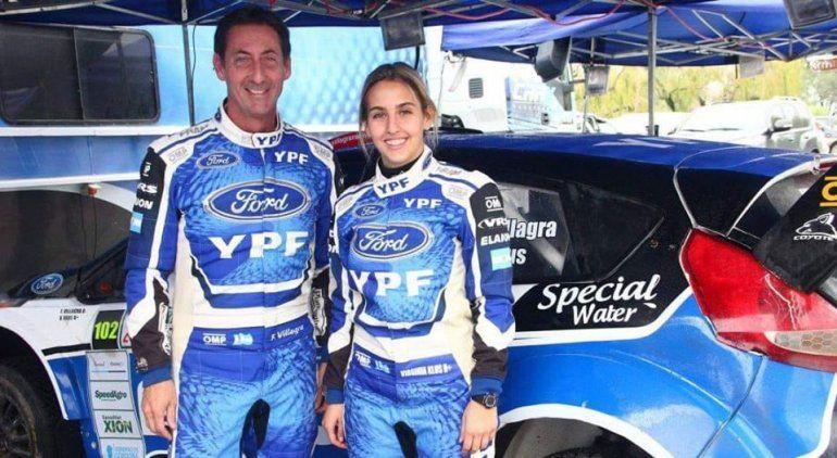 Virginia Klus arrancó como navegante en 2014 y este año se convirtió en la primera mujer en ganar la general en el Rally Argentino.