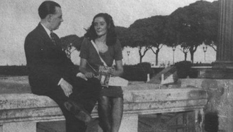 Jorge Luis Borges y Estela Canto.