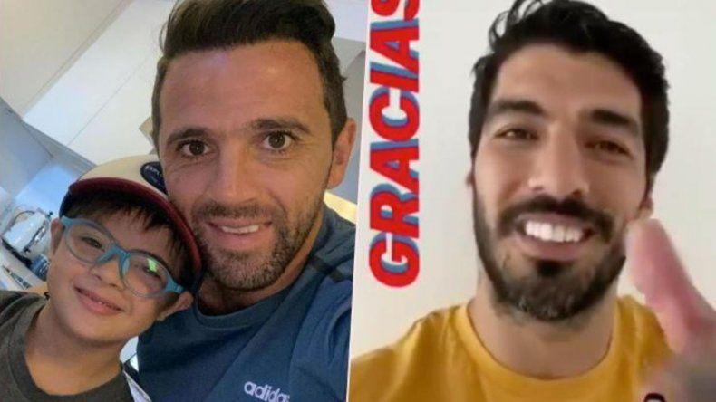 La tierna respuesta de Suárez al hijo de Montillo que se hizo viral