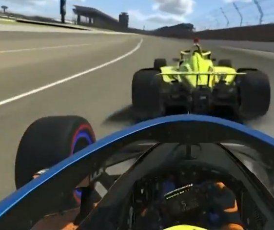 Un encontronazo entre Lando Norris y Simon Pagenaud encendió la polémica en el cierre del campeonato virtual del IndyCar.