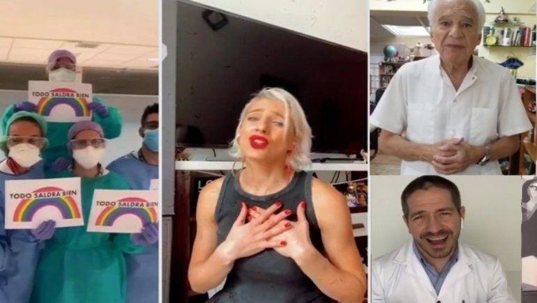 Tamara Bella volvió con la versión argenta de We are the world con personal sanitario