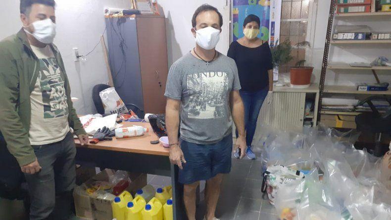 Vecinalistas entregaron donaciones a familias del sector Yupanqui