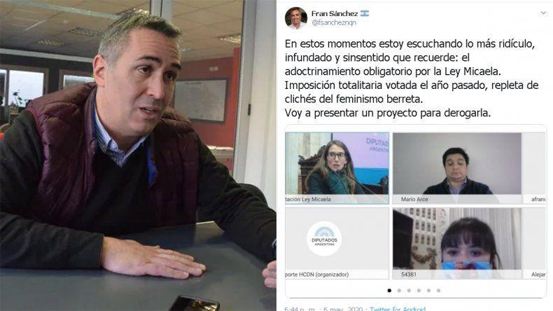 Polémica: Sánchez tildó de ridícula la Ley Micaela y dijo que buscará derogarla
