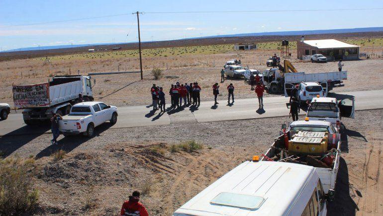 Siguen reuniones con los mineros y persiste el corte en Ruta 22