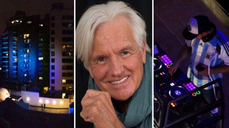 Vecinos homenajearon a Sergio Denis bailando en veredas y balcones